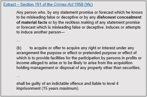 Crimes Act 1958 Vic Fraud Lawyers Melbourne