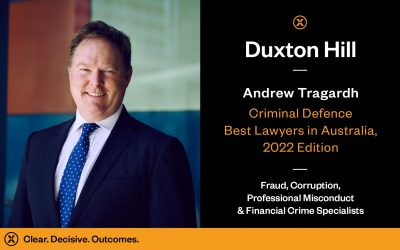 Andrew Tragardh Recognised in Best Lawyers 2022 for Best Lawyers in Australia